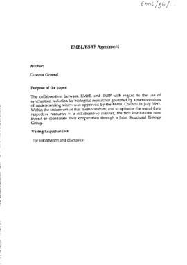 EMBL/ESRF Agreement [copy]